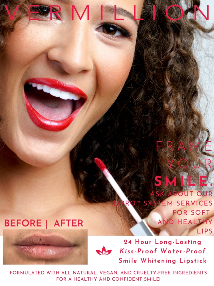 Vermillion Red Lipstick Model Poster-page-001
